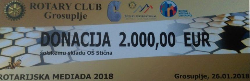 Donacija Rotary kluba Grosuplje