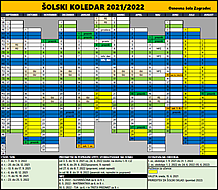 Koledar za šolsko leto 2021/2022